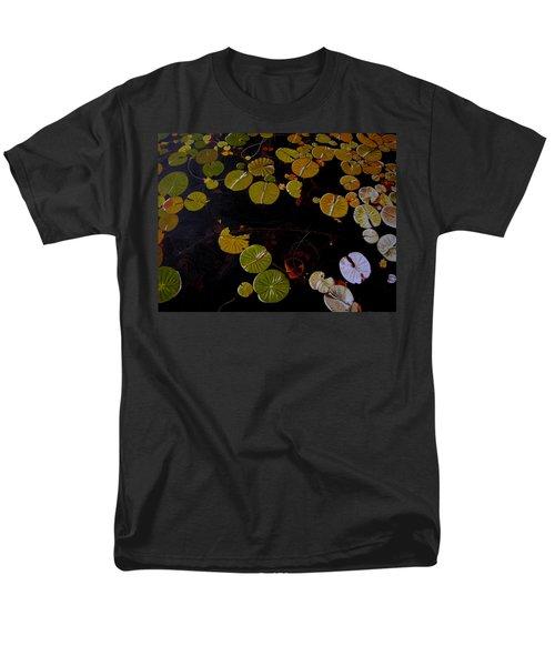 Men's T-Shirt  (Regular Fit) featuring the painting Lake Washington Lilypad 8 by Thu Nguyen