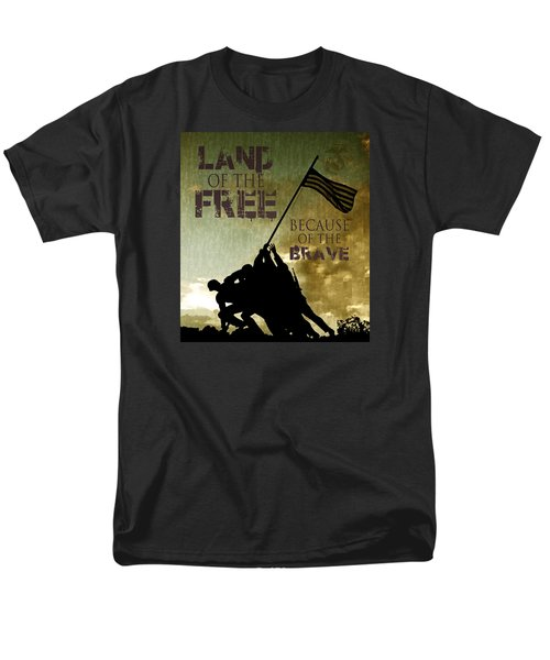 Men's T-Shirt  (Regular Fit) featuring the digital art Land Of The Free by Dawn Romine