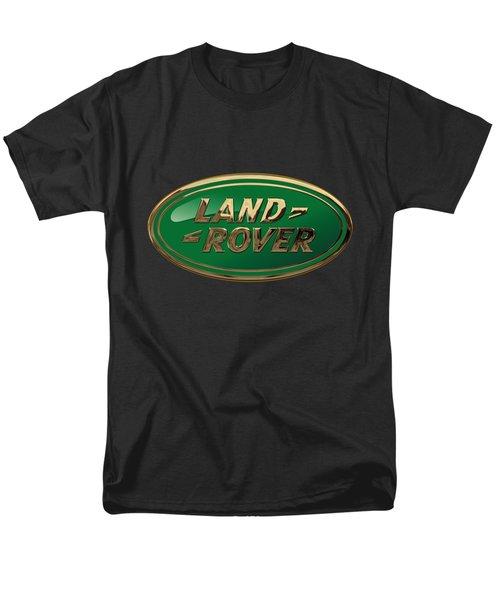 Land Rover - 3d Badge On Black Men's T-Shirt  (Regular Fit) by Serge Averbukh