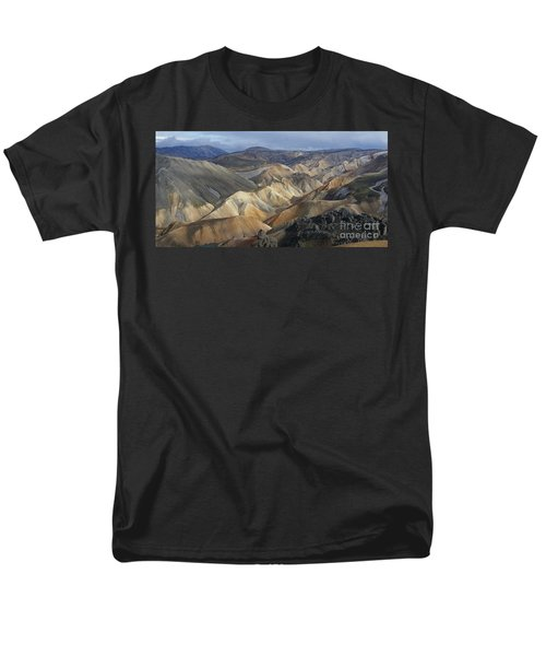 Men's T-Shirt  (Regular Fit) featuring the photograph Landmannalaugar Rhyolite Mountains Iceland by Rudi Prott