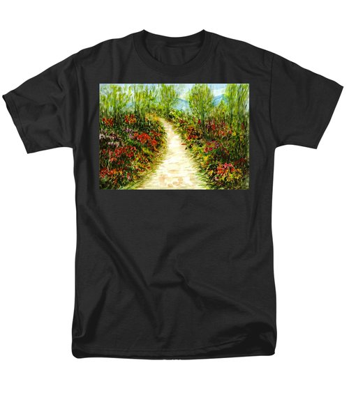Men's T-Shirt  (Regular Fit) featuring the painting Landscape by Harsh Malik