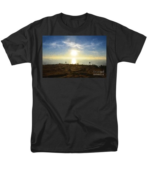 Late Afternoon - Digital Painting Men's T-Shirt  (Regular Fit) by Sharon Soberon