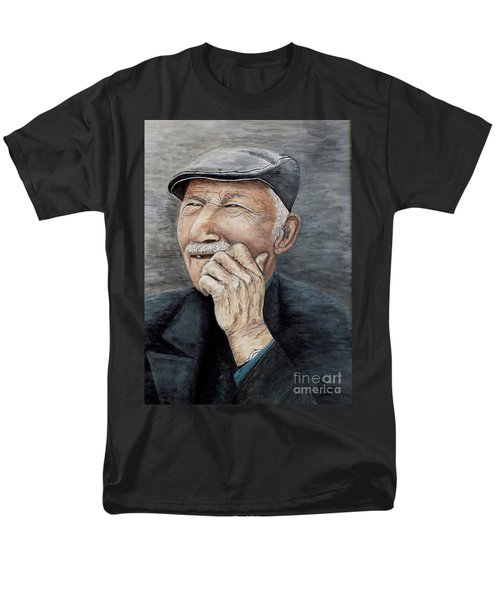 Laughing Old Man Men's T-Shirt  (Regular Fit) by Judy Kirouac