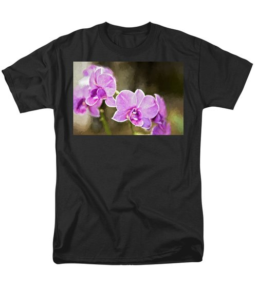 Lavendar Orchids Men's T-Shirt  (Regular Fit) by Lana Trussell