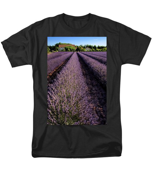 Lavender Field Provence France Men's T-Shirt  (Regular Fit) by Dave Mills