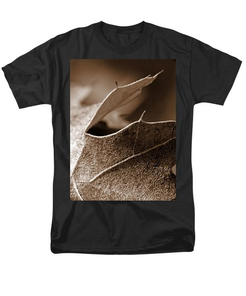 Leaf Study In Sepia II Men's T-Shirt  (Regular Fit) by Lauren Radke