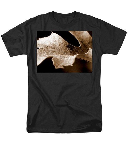 Leaf Study In Sepia Men's T-Shirt  (Regular Fit) by Lauren Radke