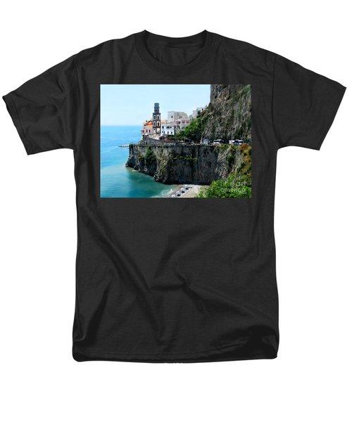 Leaving Atrani  Italy Men's T-Shirt  (Regular Fit) by Jennie Breeze