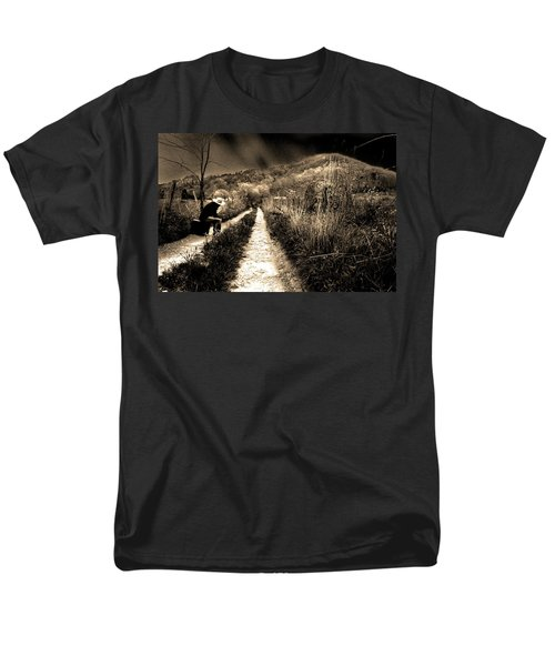 Leaving This Town Men's T-Shirt  (Regular Fit) by Gray  Artus
