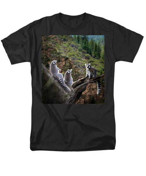 Lemur Family Men's T-Shirt  (Regular Fit) by Melinda Hughes-Berland