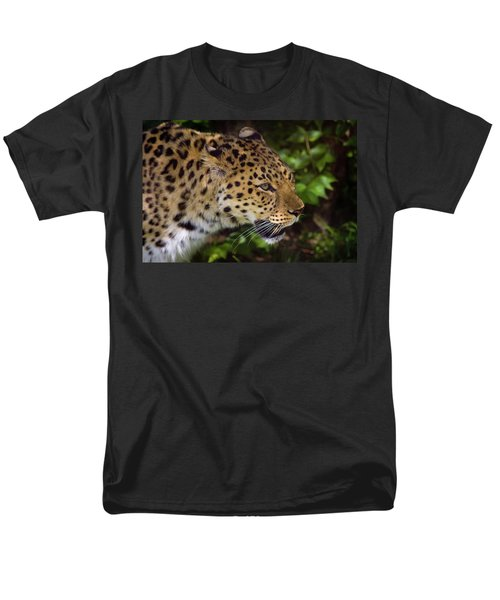 Men's T-Shirt  (Regular Fit) featuring the photograph Leopard by Steve Stuller