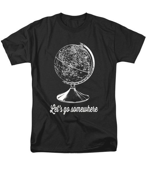 Let's Go Somewhere Tee White Ink Men's T-Shirt  (Regular Fit) by Edward Fielding