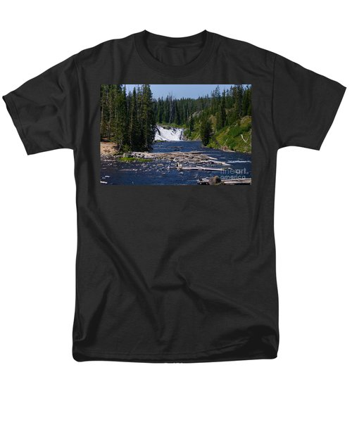 Lewis Falls Yellowstone Men's T-Shirt  (Regular Fit) by Jennifer White