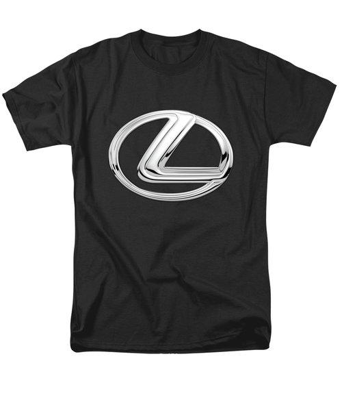 Lexus - 3d Badge On Black Men's T-Shirt  (Regular Fit) by Serge Averbukh