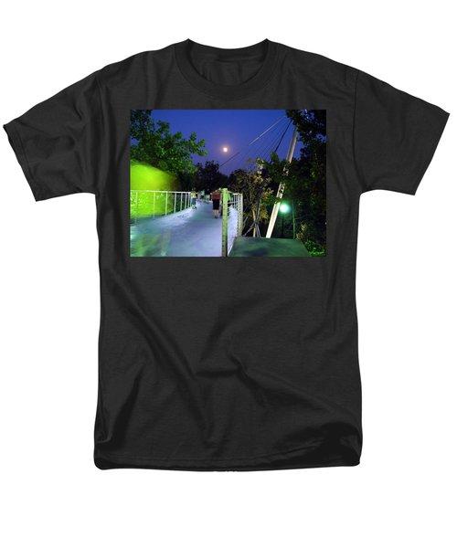 Liberty Bridge At Night Greenville South Carolina Men's T-Shirt  (Regular Fit) by Flavia Westerwelle
