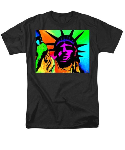 Liberty Of Colors - Saturated Hue Men's T-Shirt  (Regular Fit) by Jeremy Aiyadurai