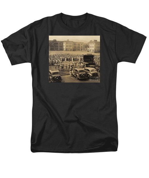 Men's T-Shirt  (Regular Fit) featuring the digital art Lick The Chicks by Walter Chamberlain