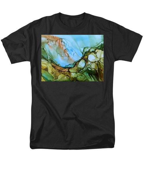Men's T-Shirt  (Regular Fit) featuring the painting Light My Fire by Pat Purdy