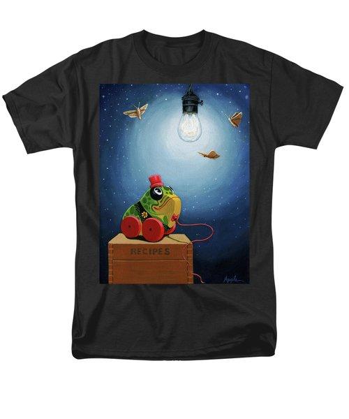 Men's T-Shirt  (Regular Fit) featuring the painting Light Snacks Original Whimsical Still Life by Linda Apple