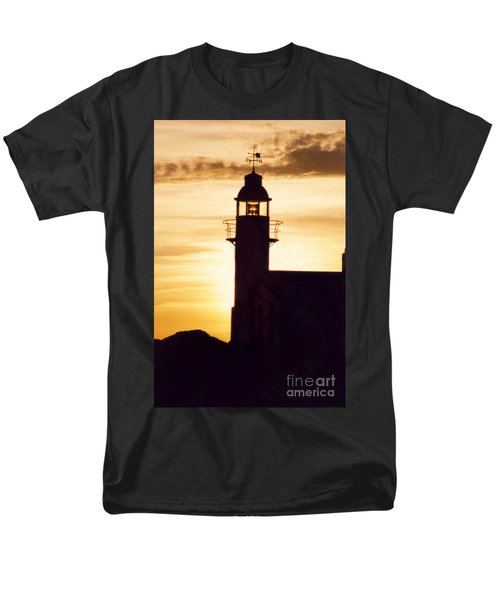 Lighthouse At Sunset Men's T-Shirt  (Regular Fit) by Mary Mikawoz