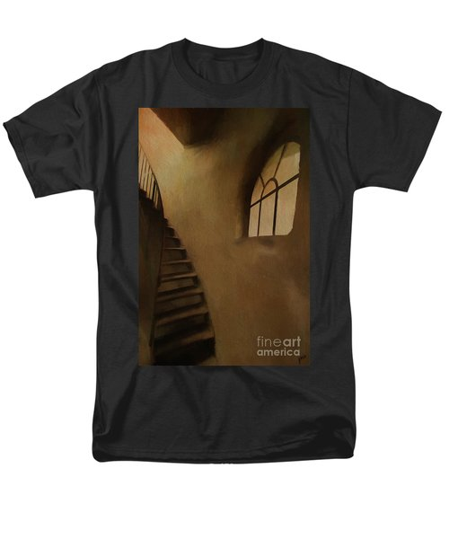 Men's T-Shirt  (Regular Fit) featuring the photograph Lighthouse Stairs by Jim  Hatch