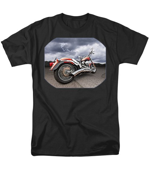 Lightning Fast - Screamin' Eagle Harley Men's T-Shirt  (Regular Fit) by Gill Billington