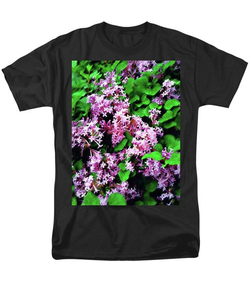 Men's T-Shirt  (Regular Fit) featuring the painting Lilacs In May by Sandy MacGowan