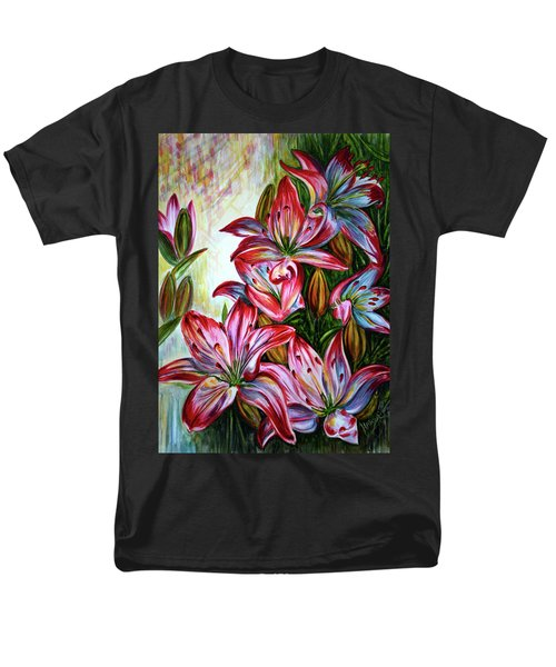 Men's T-Shirt  (Regular Fit) featuring the painting Lilies by Harsh Malik