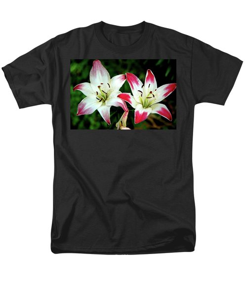 Men's T-Shirt  (Regular Fit) featuring the photograph Lily Pink Reflections by LeeAnn McLaneGoetz McLaneGoetzStudioLLCcom