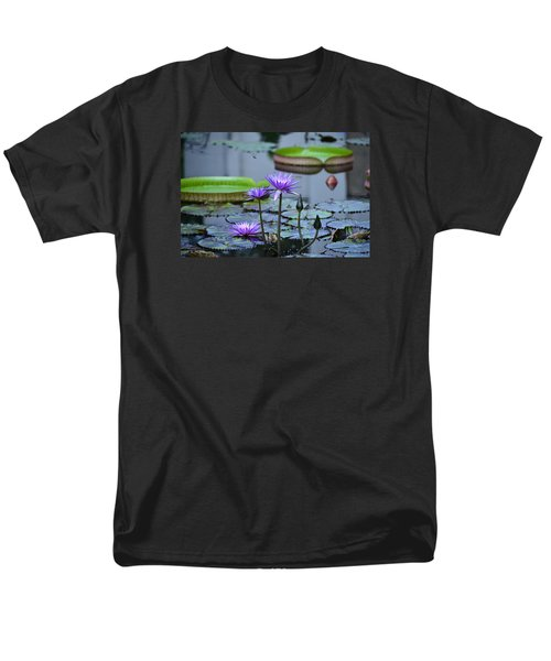 Lily Pond Wonders Men's T-Shirt  (Regular Fit) by Maria Urso