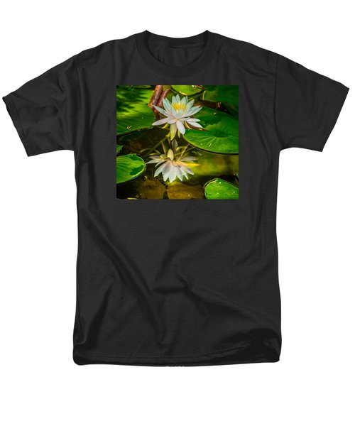 Lily Reflection Men's T-Shirt  (Regular Fit) by Jerry Cahill