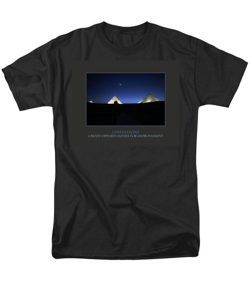 Men's T-Shirt  (Regular Fit) featuring the photograph Limitations Create Opportunities For Improvement by Donna Corless