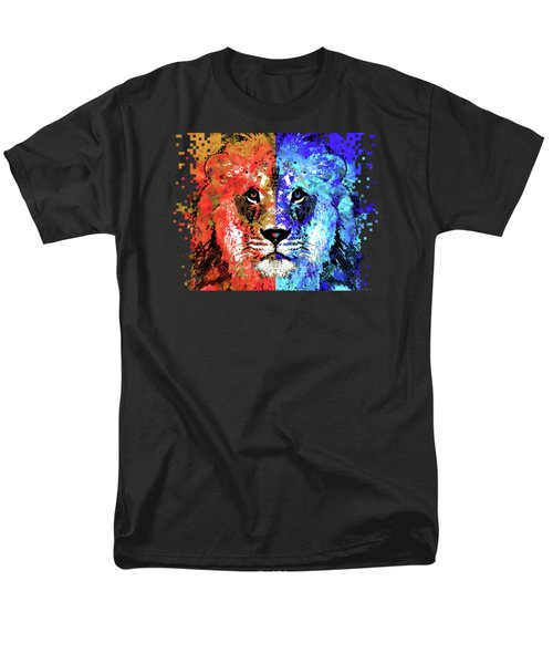 Lion Art - Majesty - Sharon Cummings Men's T-Shirt  (Regular Fit) by Sharon Cummings