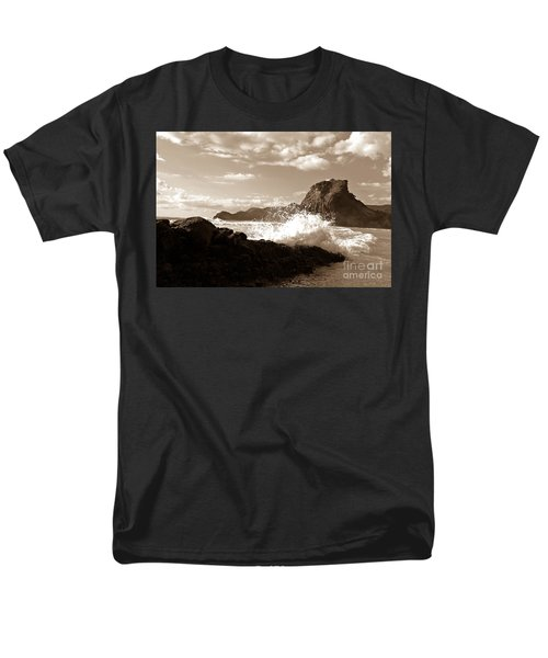 Lion Rock On Piha Beach, New Zealand Men's T-Shirt  (Regular Fit) by Yurix Sardinelly