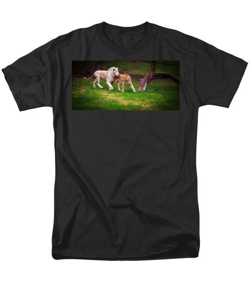 Men's T-Shirt  (Regular Fit) featuring the photograph Lions Love by Jenny Rainbow
