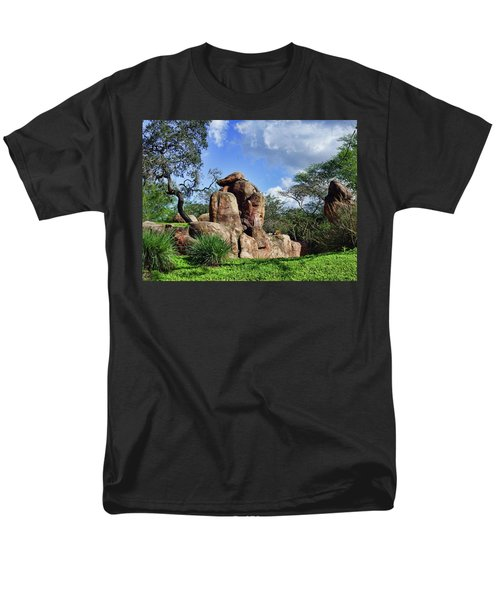 Men's T-Shirt  (Regular Fit) featuring the photograph Lions On The Rock by B Wayne Mullins