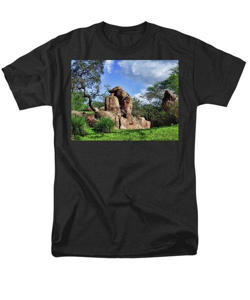 Lions On The Rock Men's T-Shirt  (Regular Fit)