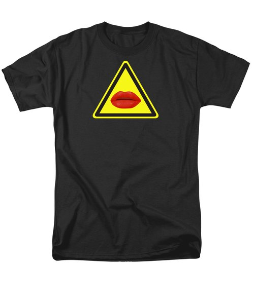 Lips Hazard Men's T-Shirt  (Regular Fit)