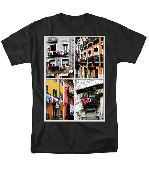Men's T-Shirt  (Regular Fit) featuring the photograph Lisbon Laundry by Lorraine Devon Wilke