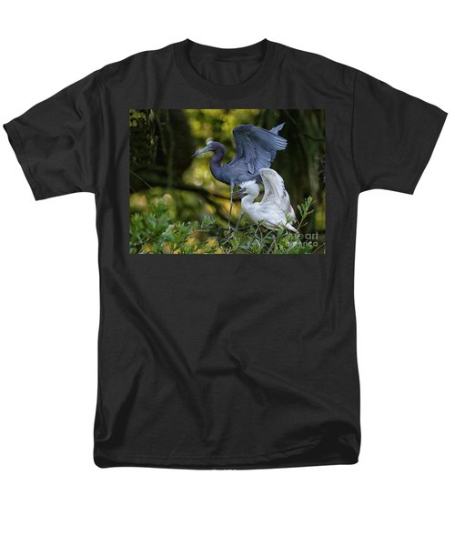 Men's T-Shirt  (Regular Fit) featuring the photograph Little Blue Adult And Juvenile by Myrna Bradshaw