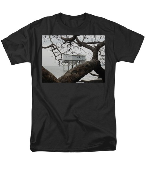 Men's T-Shirt  (Regular Fit) featuring the photograph Little Blue Gone But Not Forgotten by Patricia Greer