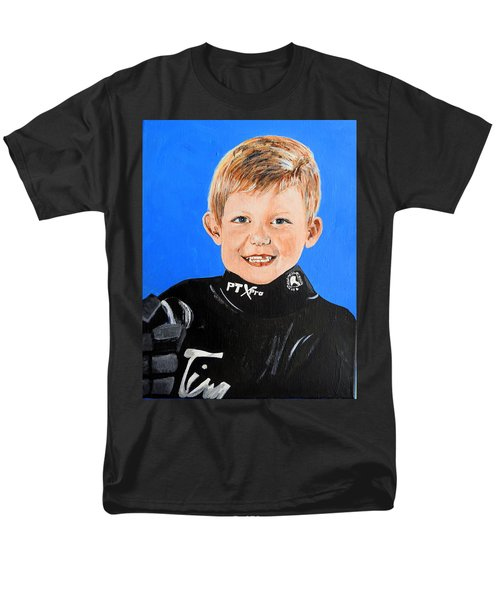 Men's T-Shirt  (Regular Fit) featuring the painting Little Mister G by Betty-Anne McDonald