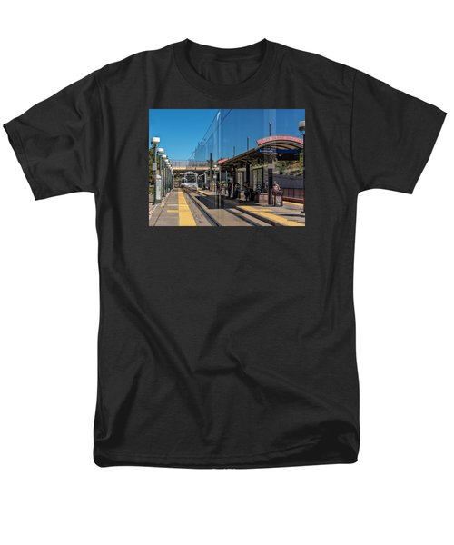 Littleton Rtd Light Rail Station Men's T-Shirt  (Regular Fit) by Stephen  Johnson