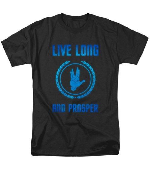 Live Long And Prosper Spock's Hand Leonard Nimoy Geek Tribut Men's T-Shirt  (Regular Fit) by Philipp Rietz