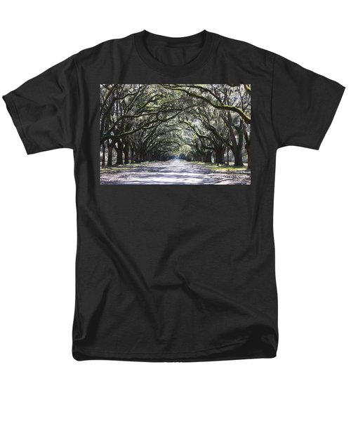 Live Oak Lane In Savannah Men's T-Shirt  (Regular Fit)