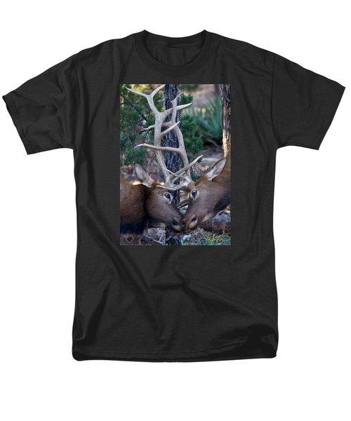 Locking Horns - Well Antlers Men's T-Shirt  (Regular Fit)