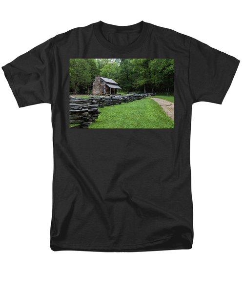Log Cabin Men's T-Shirt  (Regular Fit) by David Cote