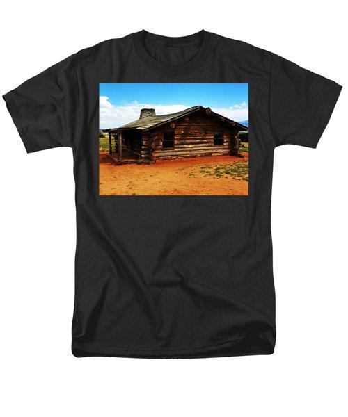 Men's T-Shirt  (Regular Fit) featuring the photograph Log Cabin Yr 1800 by Joseph Frank Baraba