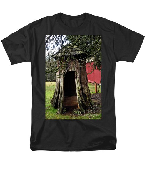 Loggers Outhouse Men's T-Shirt  (Regular Fit) by Clayton Bruster