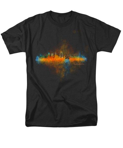 London City Skyline Uhq V4 Men's T-Shirt  (Regular Fit)